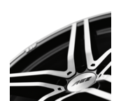 AEZ Portofino dark 8,5x18 5x112 ET45 Leštená čelná plocha / Černý lak