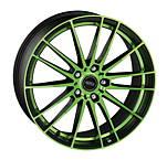 Dotz Fast Fifteen green 8x19 5x114,3 ET45 Leštená čelná plocha / Zelený lak / Čierny lak