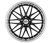 Dotz Revvo dark 8x18 5x108 ET45 Leštěný límec / Metalický šedý lak
