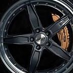 Dotz SP5 dark 8,5x19 5x114,3 ET45 Černý metalický lak / Leštěný límec