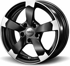 DBV Torino (SMVP) 7x16 5x100 ET38 Leštené čelné plochy / Černý mat