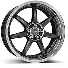 Dotz Fast Seven 9,5x19 5x112 ET25 Leštený stred a golier / Metalicky šedý lak